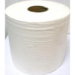 6011 Rollo Blanco Doble Hoja Ancho 20cm Buje de 7,6cm