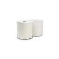 6012 Rollo Blanco Doble Hoja Ancho 20cm Buje de 7,6cm