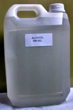 200 Alcohol en gel x 5 lts. para manos.