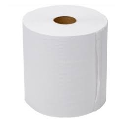 6010 Rollo Blanco Doble Hoja Ancho 25cm Buje de 7,6cm