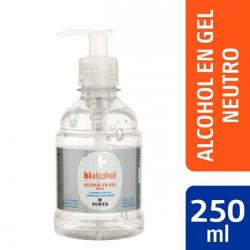 212 Gel Neutro x 250 ml Marca Bialcohol de Porta